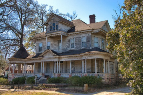 Sandersville GA Washington County Colonial Revival Eclectic House Photograph Copyright Brian Brown Vanishing South Georgia USA 2015