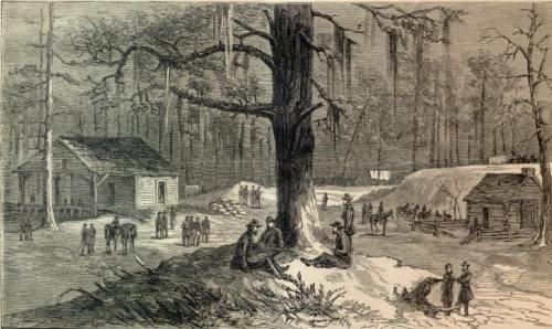 Tarvers Mill Georgia Illustrated in Harpers Weekly 1865 Image in Public Domain