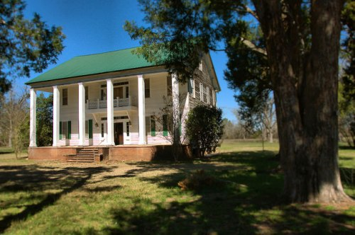 The Cedars Antebellum House Jefferson County GA Photograph Copyright Brian Brown Vanishing South Georgia USA 2015