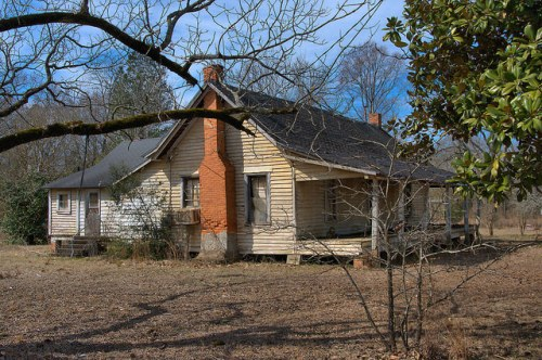 Worth County GA Vernacular Farmhouse Photograph Copyright Brian Brown Vanishing South Georgia USA 2015
