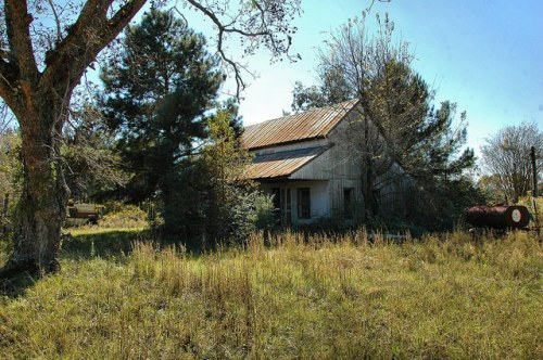 Evans County GA Abandoned Farmhouse Willis Sikes Road Photograph Copyright Brian Brown Vanishing South Georgia USA 2015