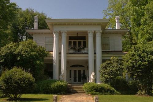 Historic Americus GA Antebellum Architecture Frank Lanier House Photograph Copyright Brian Brown Vanishing South Georgia USA 2015