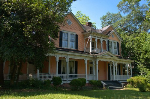 Historic Americus GA Antebellum Italianate House Photograph Copyright Brian Brown Vanishing South Georgia USA 2015