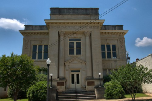 Historic Americus GA Carnegie Library Photograph Copyright Brian Brown Vanishing South Georgia USA 2015