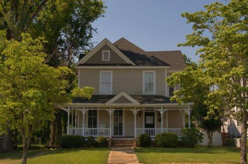 Historic Americus GA Folk Victorian Queen Anne House Photograph Copyright Brian Brown Vanishing South Georgia USA 2015