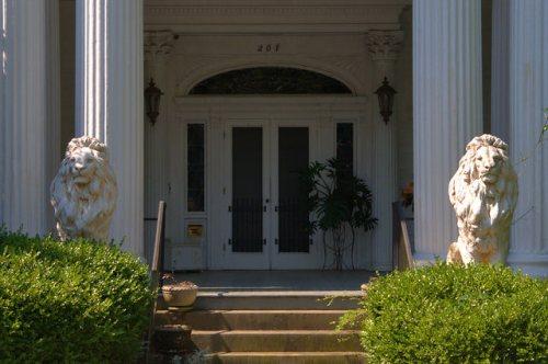 Historic Americus GA Frank Lanier House Doorway Photograph Copyright Brian Brown Vanishing South Georgia USA 2015