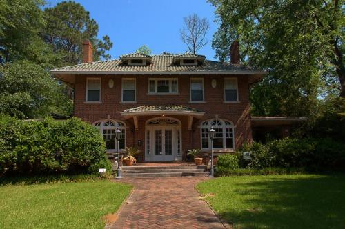 Historic Americus GA Georgian House Photograph Copyright Brian Brown Vanishing South Georgia USA 2015