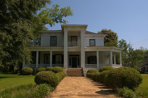 Historic Americus GA Greek Revival House with Italianate Featuers Photograph Copyright Brian Brown Vanishing South Georgia USA 2015