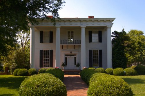 Historic Americus GA Herschel Smith House Antebellum Mansion Photograph Copyright Brian Brown Vanishing South Georgia USA 2015