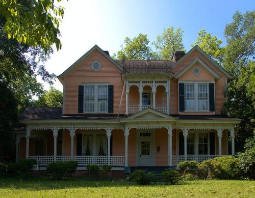 Historic Americus GA Italianate House Photograph Copyright Brian Brown Vanishing South Georgia USA 2015