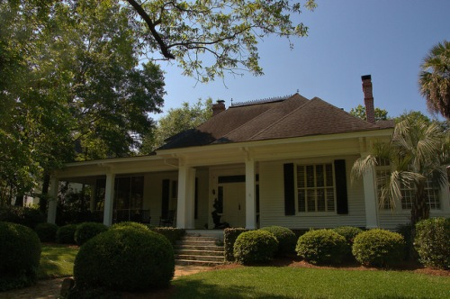 Historic Americus GA Neoclassical Revival Cottage Photograph Copyright Brian Brown Vanishing South Georgia USA 2015