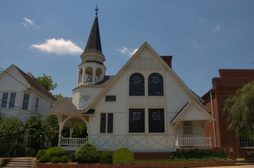 Historic Americus GA Presbyterian Church Photograph Copyright Brian Brown Vanishing South Georgia USA 2015