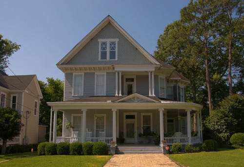 Historic Americus GA Queen Anne with Italianate Brackets Shingle Gable Photograph Copyright Brian Brown Vanishing South Georgia USA 2015