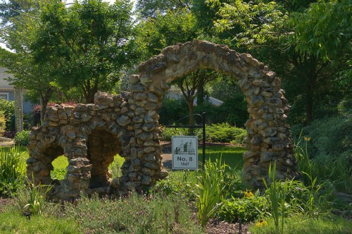 Historic Rees Park Americus GA Fieldstone Garden Structure Photograph Copyright Brian Brown Vanishing South Georgia USA 2015