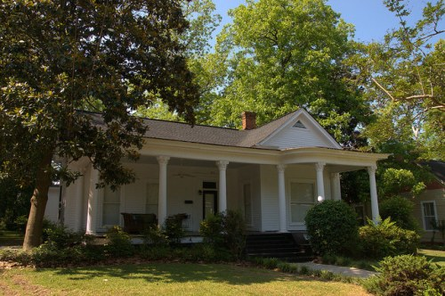 Neoclassical Cottage Americus GA Historic District Photograph Copyright Brian Brown Vanishing South Georgia USA 2015