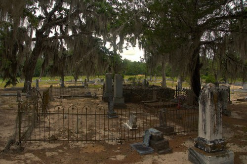 Historic Cedar Creek Baptist Church Cemetery Wilcox County GA Photograph Copyright Brian Brown Vanishing South Georgia USA 2015