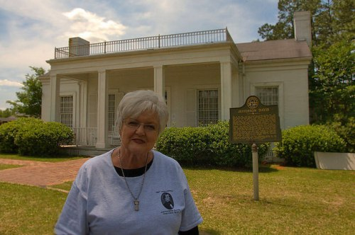 Jane Tucker Gentry Who i Saving Jefferson Davis Park on the 150th Anniversary of the Capture Irwinville GA Photograph Copyright Brian Brown Vanishing South Georgia USA 2015
