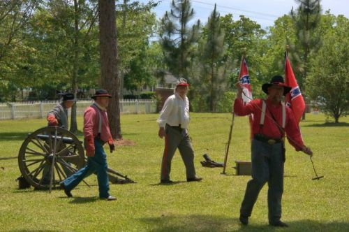 Jefferson Davis Cowboys Commemorating the 150th Anniversary of the Capture at Irwinville GA Photograph Copyright Brian Brown Vanishing South Georgia USA 2015