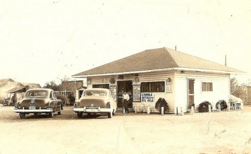 Johnnies Drive In Early 1950s Fitzgerald GA Archival Photograph Courtesy Phillip Joe Luke Vanishing South Georgia USA 2015