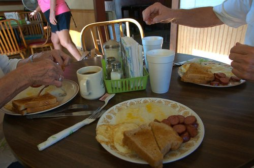 Johnnies Drive In Fitzgerald GA Homemade Breakfast Photograph Copyright Brian Brown Vanishing South Georgia USA 2015
