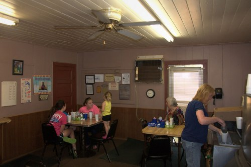 Johnnies Drive In Fitzgerald GA Landmark Soon to Close Patrons Having Breakfast Photograph Copyright Brian Brown Vanishing South Georgia USA 2015