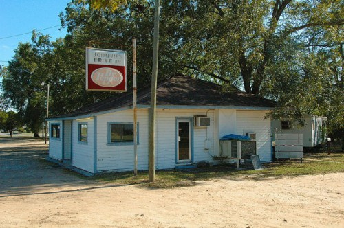 Johnnies Drive In in 2012 Photograph Copyright Brian Brown Vanishing South Georgia USA 2015