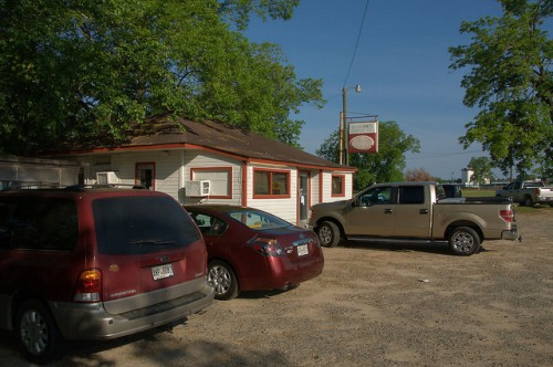Johnnies Drive In Parking Lot Fitzgerald GA Photograph Copyright Brian Brown Vanishing South Georgia USA 2015