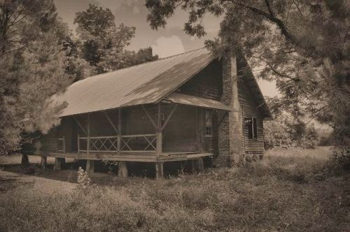 Leta Mac Stripling Farmily Dogtrot Farm House Tattnall County GA Photograph Copyright Brian Brown Vanishing South Georgia USA 2015