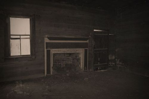 Tattnall County Dogtrot Leta Mac McCall Stripling Property Interior Fireplace Mantel Photograph Copyright Brian Brown Vanishing South Georgia USA 2015