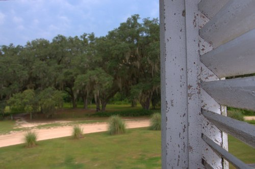 Horne Farm House 1850s Long County GA Louvers Second Floor Porch Photograph Copyright Brian Brown Vanishing South Georgia USA 2015