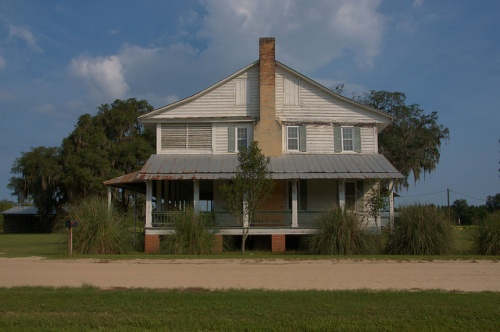 Horne Farm House 1850s Long County GA Plantation Plain Converted French Colonial Photograph Copyright Brian Brown Vanishing South Georgia USA 2015