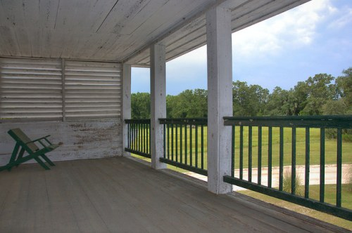 Horne Farm House Long County GA Antebellum Architecture Second Floor Porch Photograph Copyright Brian Brown Vanishing South Georgia USA 2015