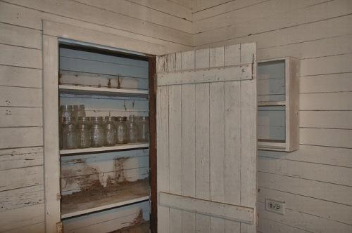 Horne Farm House Long County GA Kitchen Pantry Jars Photogaph Copyright Brian Brown Vanishing South Georgia USA 2015