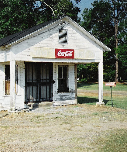 Lands Crossing GA Irwin County Henry Lands Grocery Summer 2005 Photograph Copyright Brian Brown Vanishing South Georgia USA 2015