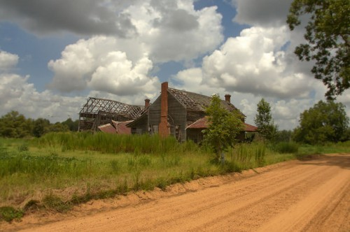 Pierce County GA Abandoned Farmhouse Near Ramah Church Photograph Copyright Brian Brown Vanishing South Georgia USA 2015