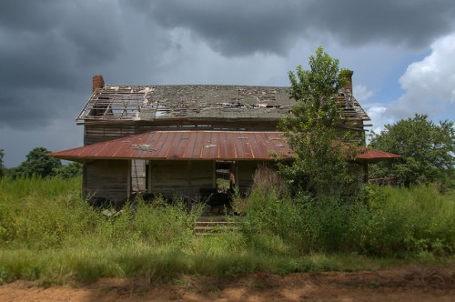 Pierce County GA Abandoned Farmhouse Photogaph Copyright Brian Brown Vanishing South Georgia USA 2015