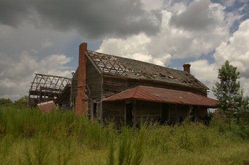 Pierce County GA Abandoned Farmhouse Walkerville Mershon Area Photograph Copyright Brian Brown Vanishing South Georgia USA 2015