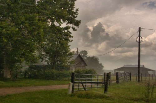 Wayne County GA Thunderstorm Farmhouse Photograph Copyright Brian Brown Vanishing South Georgia USA 2015