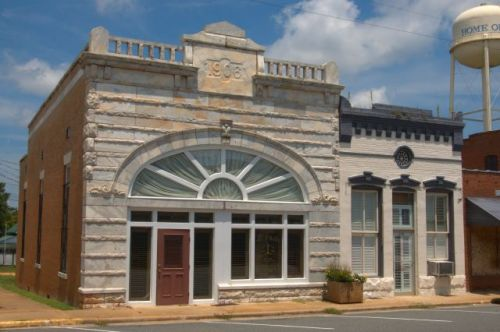Buena Vista GA Marion County Marble Fronted Bank Building Photograph Copyright Brian Brown Vanishing South Georgia USA 2015
