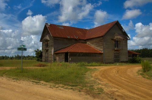 Candler County GA Jim Colemans Big Barn Rushton Farm Photograph Copyright Brian Brown Vanishing South Georgia USA 2015