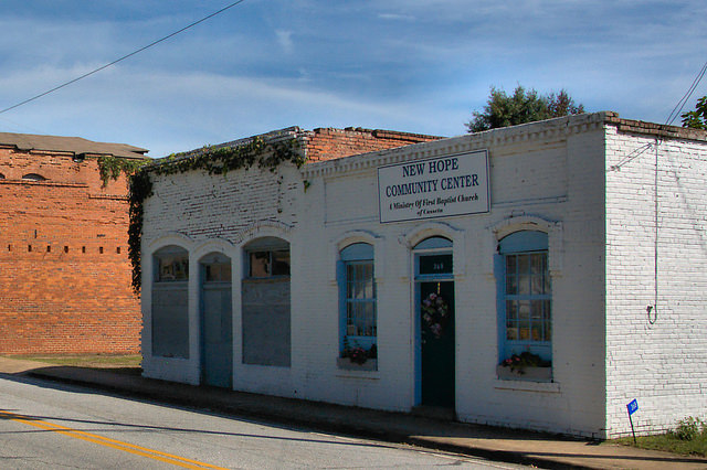 Cusseta GA Chattahoochee County Commercial Architecture Photograph Copyright Brian Brown Vanishing South Georgia USA 2015
