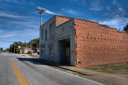 Cusseta GA Chattahoochee County Historic Commercial Storefronts Photograph Copyright Brian Brown Vanishing South Georgia USA 2015