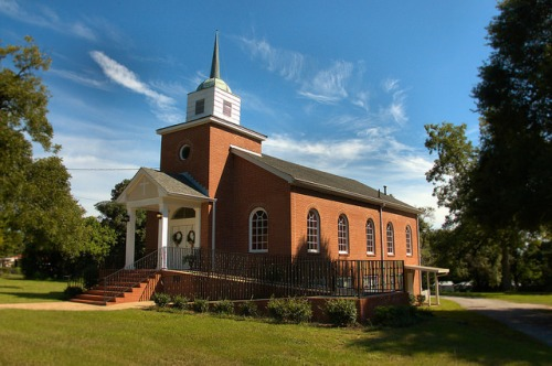 Cusseta Methodist Church Chattahoochee County GA Photograph Copyright Brian Brown Vanishing South Georgia USA 2015