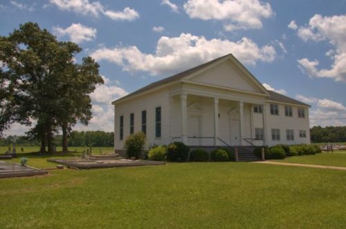 Historic Hopewell Methodist Church Schley County GA Photograph Copyright Brian Brown Vanishing South Georgia USA 2015