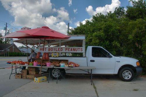 Hot Boiled Peanuts Roadside Vendor Claxton GA Photograph Copyright Brian Brown Vanishing South Georgia USA 2015