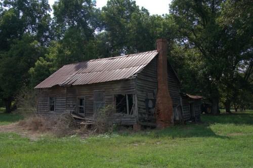 Jenkins County GA Highway 23 Farmhouse Photograph Copyright Brian Brown Vanishing South Georgia USA 2015