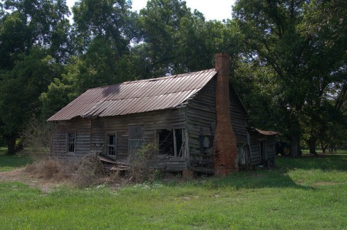 Jenkins County GA Highway 23 Farmhouse Photograph Copyright Brian Brown Vanishing South Georgia USA 2015
