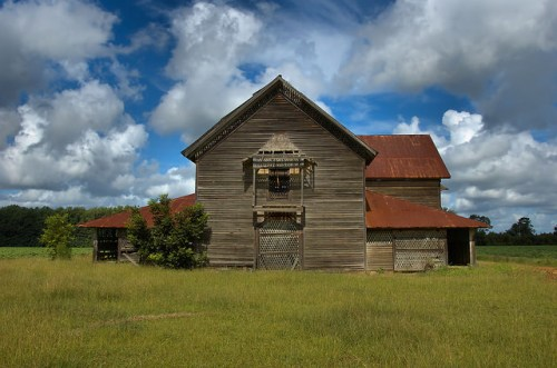 Jim Colemans Big Barn Candler County GA Rushton Farm Photograph Copyright Brian Brown Vanishing South Georgia USA 2015