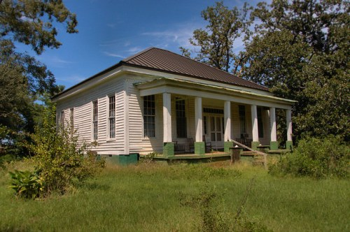 John Teel House Antebellum Greek Revival Landmark Gaston Farm Sumter County GA Photograph Copyright Brian Brown Vanishing South Georgia USA 2015