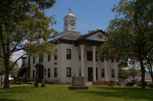 Marion County Courthouse Buena Vista GA Photograph Copyright Brian Brown Vanishing South Georgia USA 2015